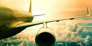 Plane in Green Sky