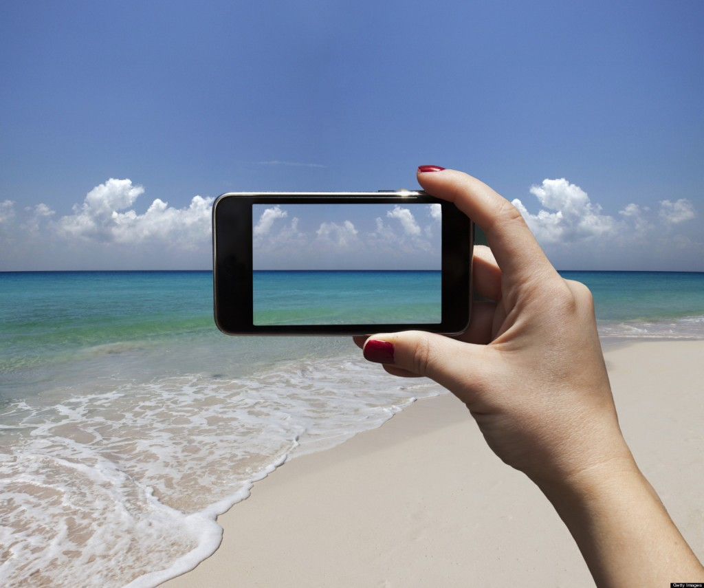 Iphone at Beach